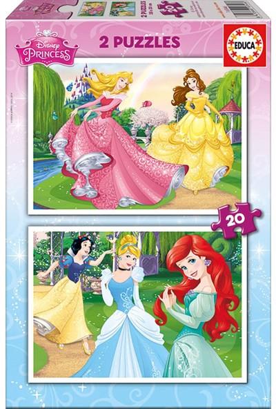 Educa Disney Prensesler 2x20 Parça Puzzle