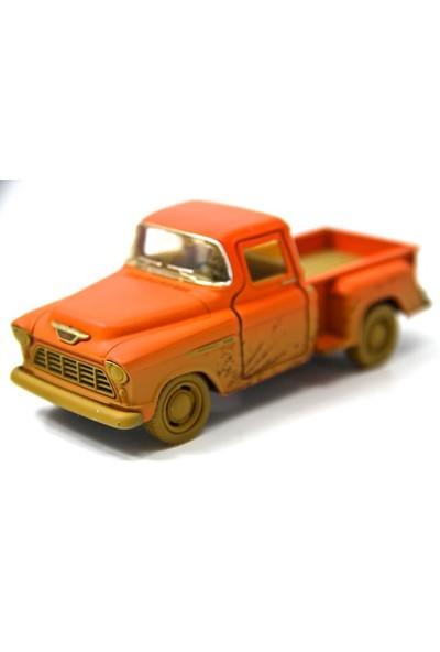 Turuncu - 1955 Chevy Stepside Pick-up 1:32 Çamurlu Metal Araba