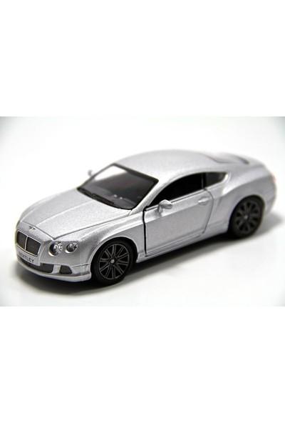 Gri - 2012 Bentley Continental GT Speed 1:38 Çek Bırak Model Araba