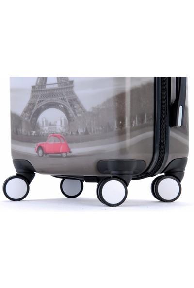 Gnza 8102 4 Tekerlekli 3'Lü Valiz Seti Paris