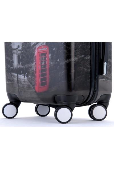 Gnza 8102 4 Tekerlekli Büyük Boy Valiz Londra