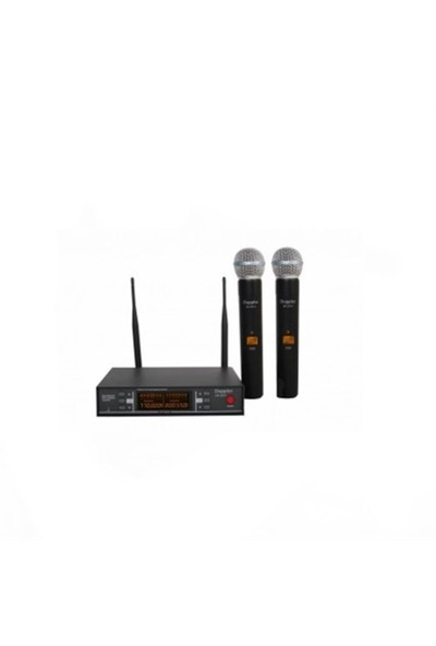 Doppler Dm252H El Tipi Çiftli Telsiz Mikrofon