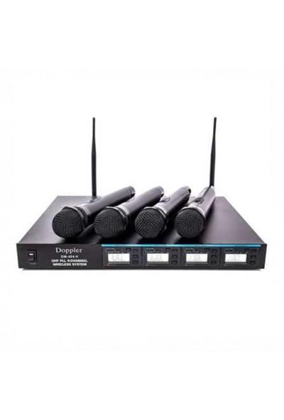 Doppler Dm404H Dörtlü El Tipi Telsiz Mikrofon