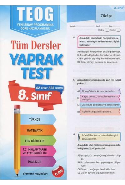 Element Yayınları 8. Sınıf Teog Tüm Dersler Yaprak Test