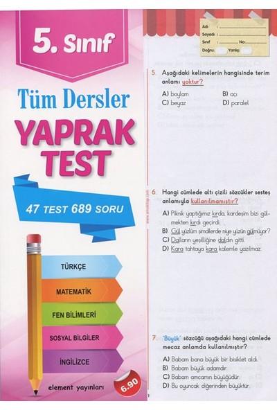 Element Yayınları 5. Sınıf Tüm Dersler Yaprak Test