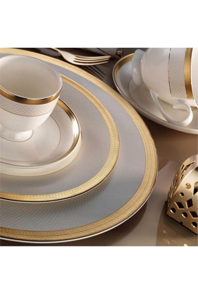 Kütahya Porselen Bone China 84 Parça 25142 Desenli Yemek Takımı