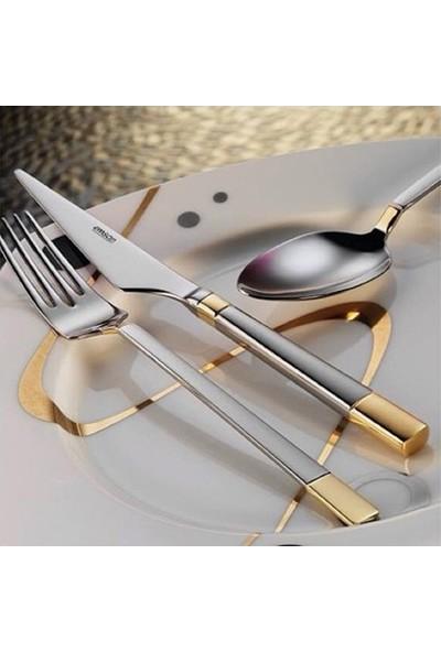 Emsan Duru Gold 84 Parça 12 Kişilik Kutulu Çatal Kaşık Bıçak Takımı