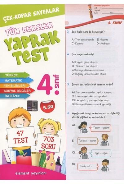 4. Sınıf Tüm Dersler Yaprak Test-Kolektif