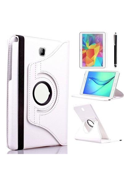 Kılıfland Samsung Galaxy Tab A T550 Kılıf 360 Standlı Beyaz+Film+Kalem