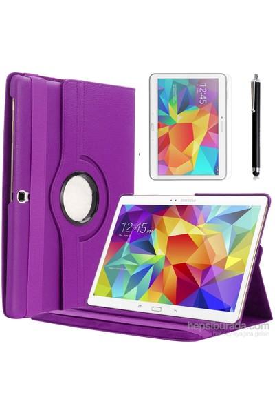 Kılıfland Samsung Galaxy Tab S T800 Kılıf 360 Standlı Mor+Film+Kalem