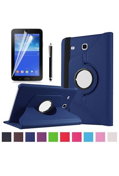 Kılıfland Samsung Galaxy Tab 3 Lite Kılıf 360 Standlı Lacivert+Film+Kalem