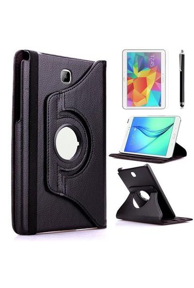 Kılıfland Samsung Galaxy Tab A T350 Kılıf 360 Standlı Siyah+Film+Kalem