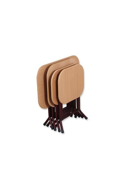 Okuyan Masa Sofra 60 cm Metal Katlanır Ayaklı Kısa Laptop Masası