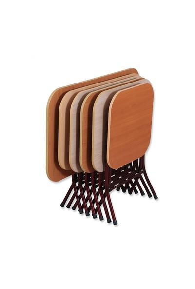 Okuyan Masa Sofra 60 cm x 110 cm Metal Katlanır Ayaklı Yemek Masası