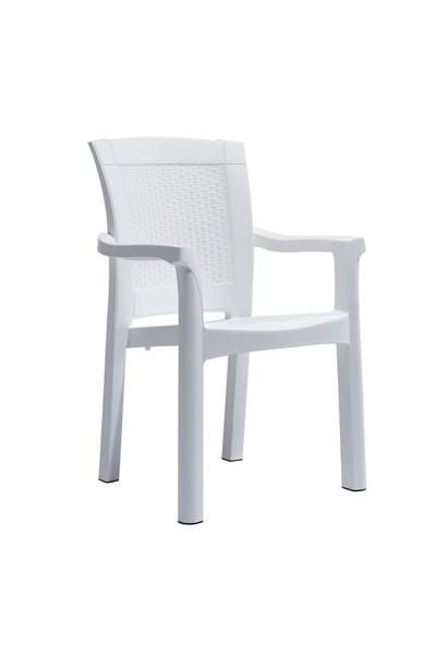 Novussi Garden Roma Rattan Sandalye - Beyaz