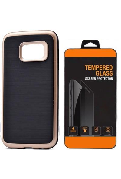 Exclusive Phone Case Samsung Galaxy A3 2016 Kılıf Infinity Altın+Tempered Glass