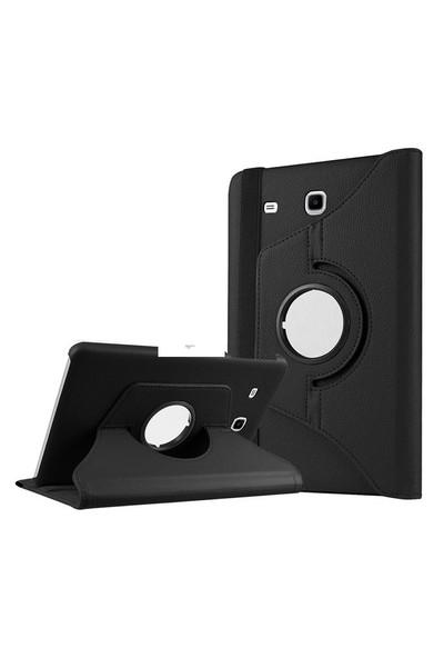 Exclusive Phone Case Samsung Galaxy Tab A T280 Kılıf 360 Standlı Siyah+Film+Kalem