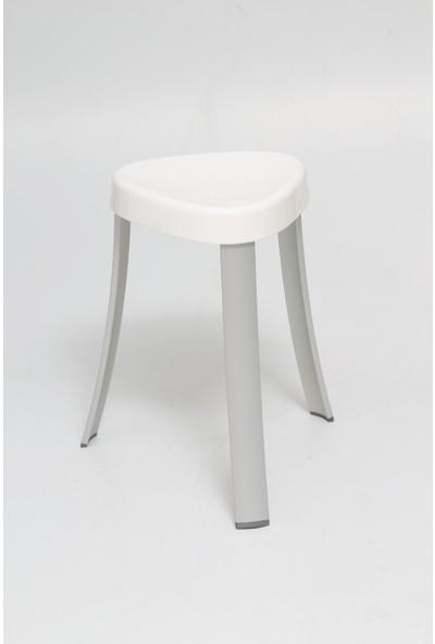 Primanova Banyo Taburesi Alüminyum Beyaz M-KV16-01