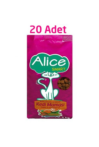 Alice Smart Kedi Maması 1 Kg x 20 Adet