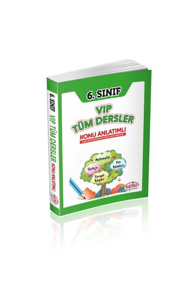 Editör Yayınları 6. Sınıf Vip Tüm Dersler Konu Anlatımlı