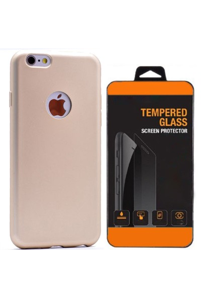 Exclusive Phone Case İphone 6 6S Kılıf Mat Silikon +Tempered Glass