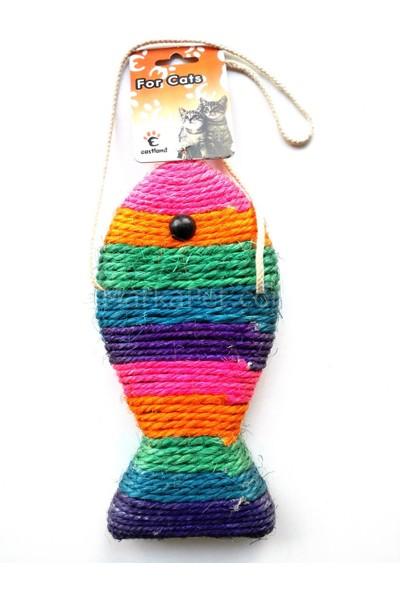 Eastland Kedi Tırmalama Tahtası Askılı Balık 26 cm