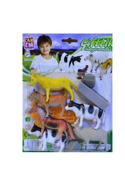Can-Em Oyuncak 990312C13 Kart.Çiftlik Hayvanları