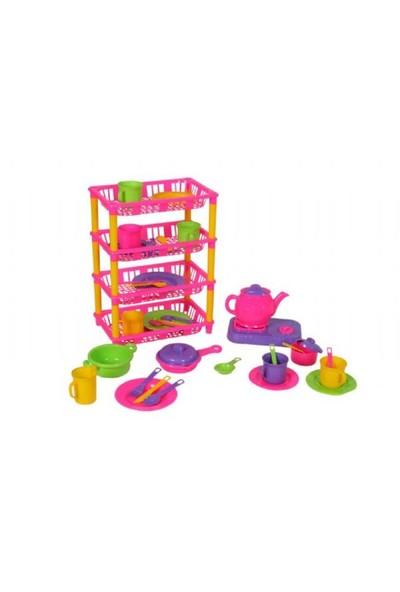 Mgs Oyuncak 0339 Dört Katlı Mutfak Set