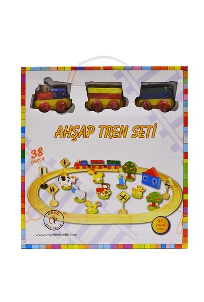 Onyıl Oyuncak 8314 Kutu Ahşap Tren Seti