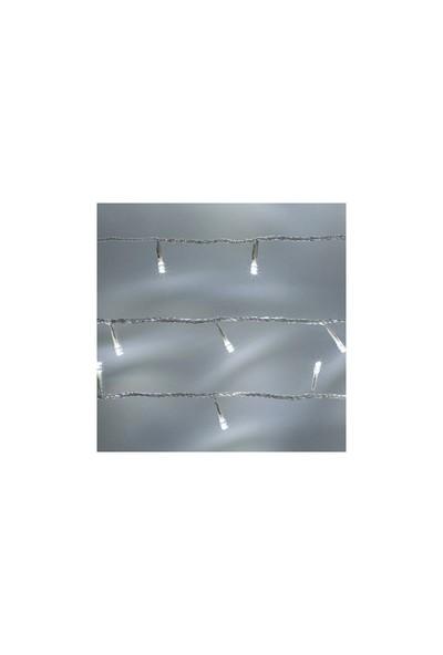 Haksatelektrik Beyaz Süsışık Eklemeli 10Mt 100 Ledli