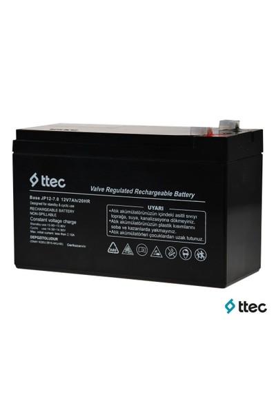 Ttec Base 12 Volt 7 Ah Kuru Akü Batarya Pil Kd