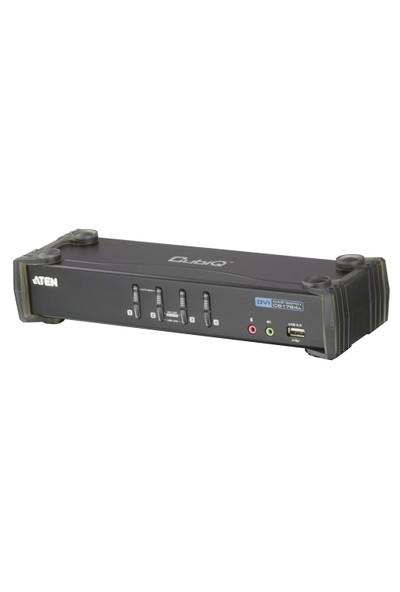 4 Port&#039:Lu Usb 2.0 Dvı Kvmp™ Switch + 2 Portlu Usb (2.0) Hub, Masaüstü Tip, Kvm Bağlantı Kablosu Ürün Beraberinde Gelmektedir