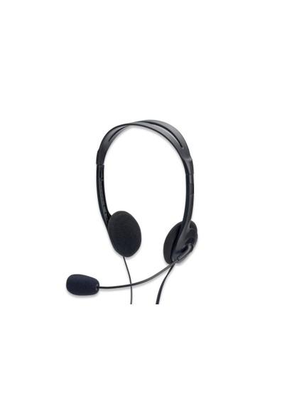 Mikrofonlu Stereo Kulaklık, Ses Ayarı Yapılabilir, 1.80 Metre