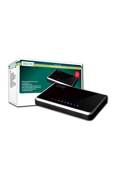 Digitus Unmanaged 8 Port 10/100Base-T Fast Ethernet Nway Switch, Masaüstü Tipi