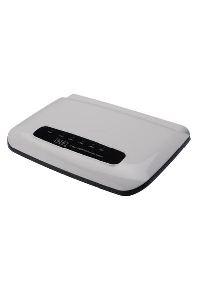 Digitus 5 Port 10/100/1000Mbps Yönetilemeyen Gigabit Switch, Masaüstü Tipi
