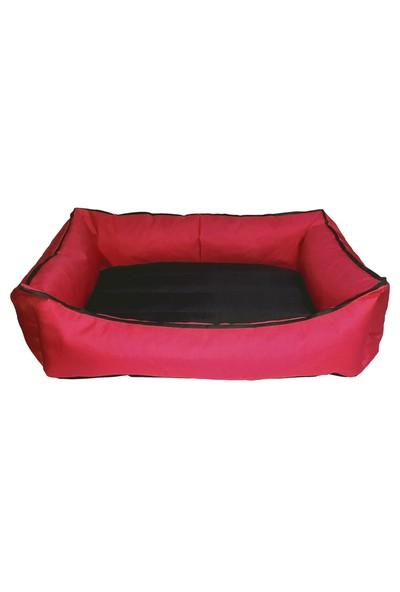 Bronza Su Geçirmez Kedi-Köpek Yatağı No: 4 80x90x15 Kırmızı
