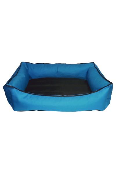 Bronza Su Geçirmez Kedi-Köpek Yatağı No: 5 90x100x15 Mavi