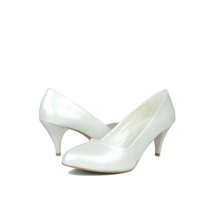 Loggalin 580110 031 313  Sedef Beyaz    Kadın Stiletto Ayakkabı