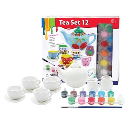 Vardem çay Seti Boyama Oyunu 12 Parça çay Set Ve 12 Parça Fiyatı