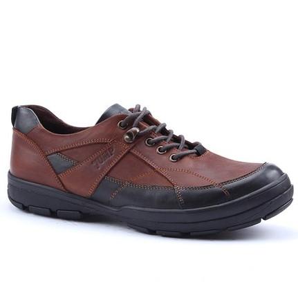 Jump 12052-C Kısa Bot %100 Deri Bağlı Casual Trend Erkek Ayakkabı