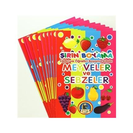 şirin Boyama Eğitici Ve öğretici Boyama Kitabı 10 Kitap Fiyatı