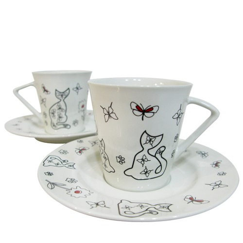 Cats by Luyano 200 Cc Çay Fincanı 2 li Set