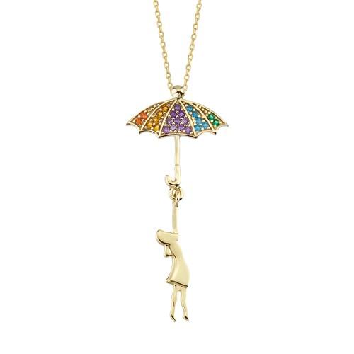 Swandia Şemsiyeli Kız Kolye SWN09346