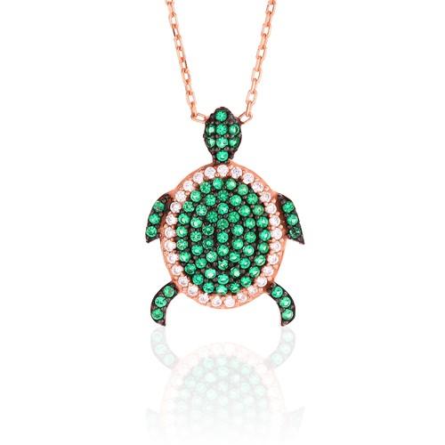 Azuris Kaplumbağa Kolye