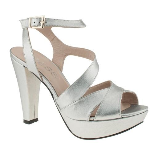 Gess 16439 X Bantli Platform Acik Gümüş Kadın Ayakkabı