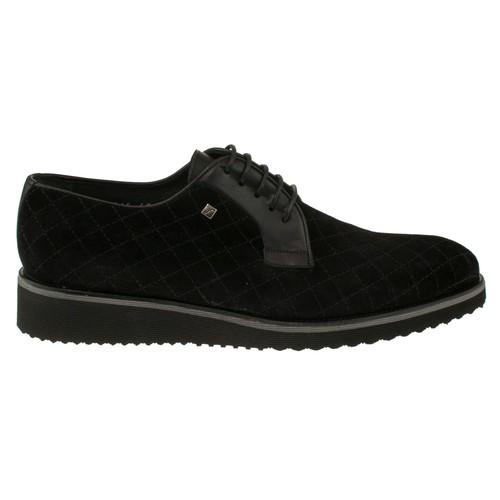 Fosco 6545 Dikisli Bağlı Kasik Siyah Erkek Ayakkabı