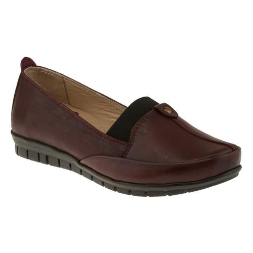 Kawest 620Y643 Tek Zimbali Bordo Kadın Ayakkabı