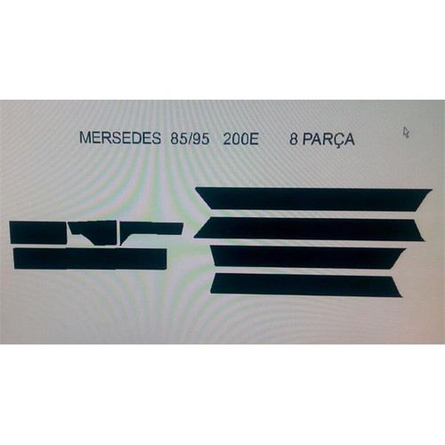 Demircioğlu Mercedes E200 1985 - 1995 Arası 8 Parça Karbon Desen Torpido Kaplama