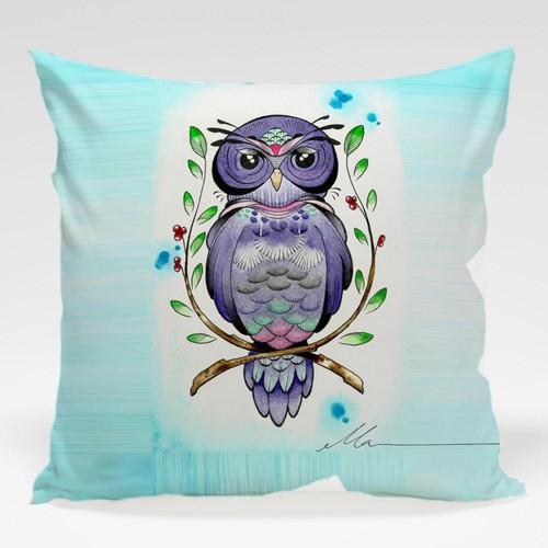 Dekorjinal Baykuş Yastık Kılıfı OWL098