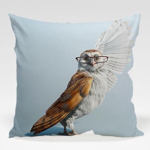 Dekorjinal Baykuş Yastık Kılıfı OWL091